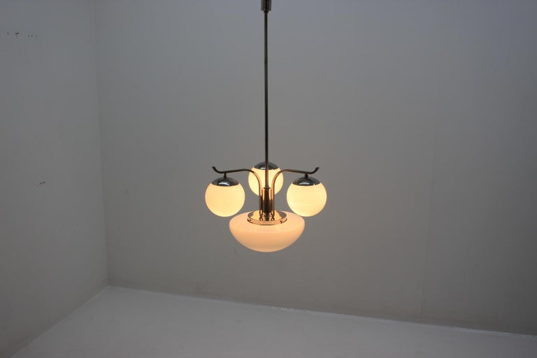 Czech Art Deco Chandelier, 1930s For Sale
