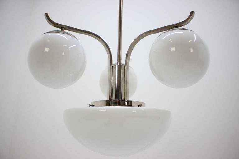 Metal Art Deco Chandelier, 1930s For Sale
