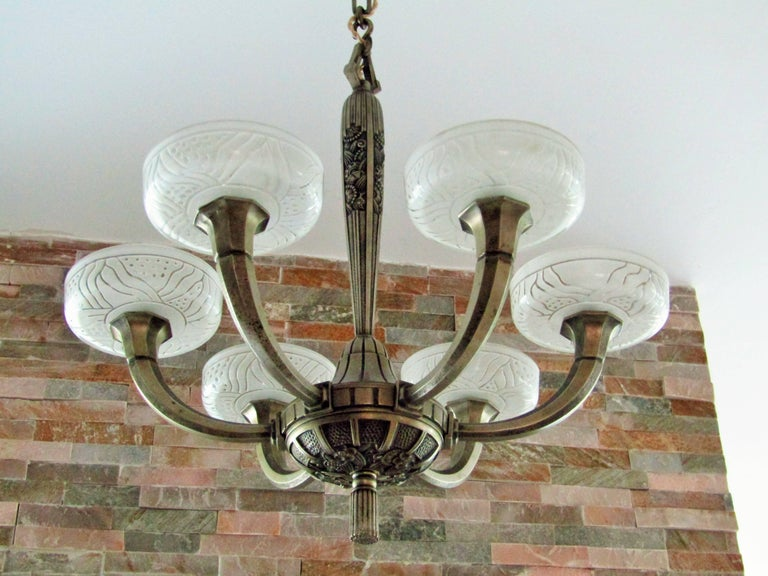 Art Deco Chandelier by Hettier & Vincent 1925 19