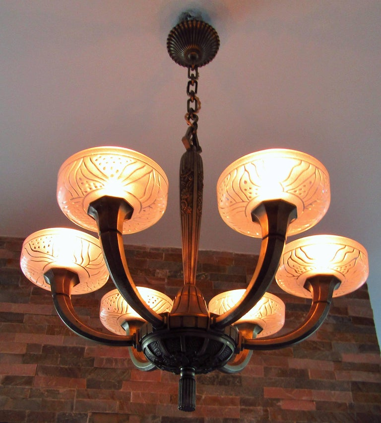 Art Deco Chandelier by Hettier & Vincent 1925 4