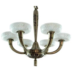 Art Deco Chandelier by Hettier & Vincent 1925