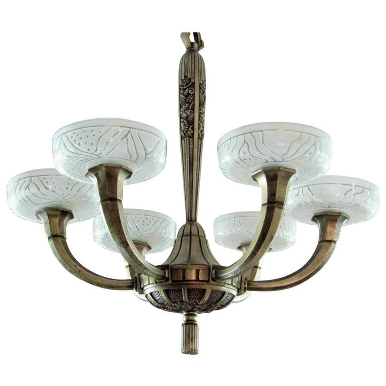 Art Deco Chandelier by Hettier & Vincent 1925 1