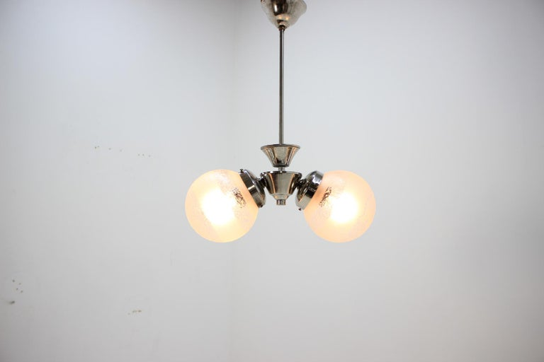 Art Deco Chandelier by Napako, 1930s In Good Condition For Sale In Barcelona, ES