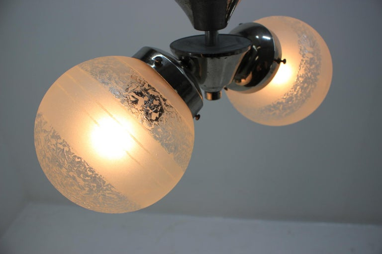Mid-20th Century Art Deco Chandelier by Napako, 1930s For Sale