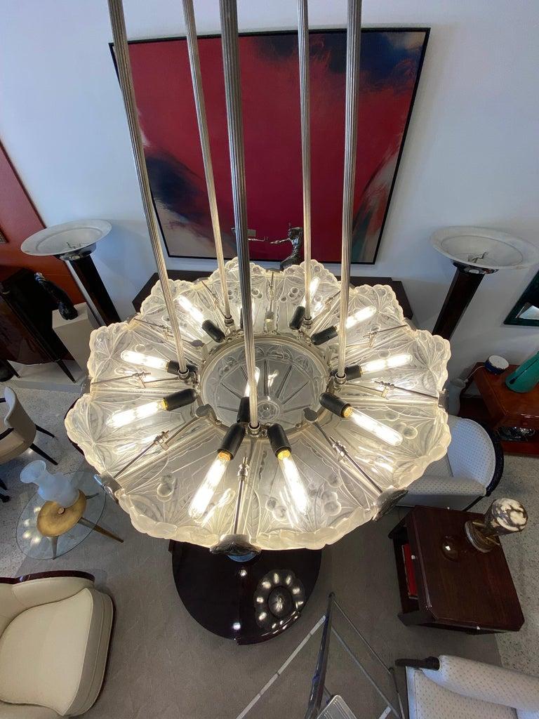 Art Deco Chandelier by Sabino Paris In Good Condition For Sale In North Miami, FL