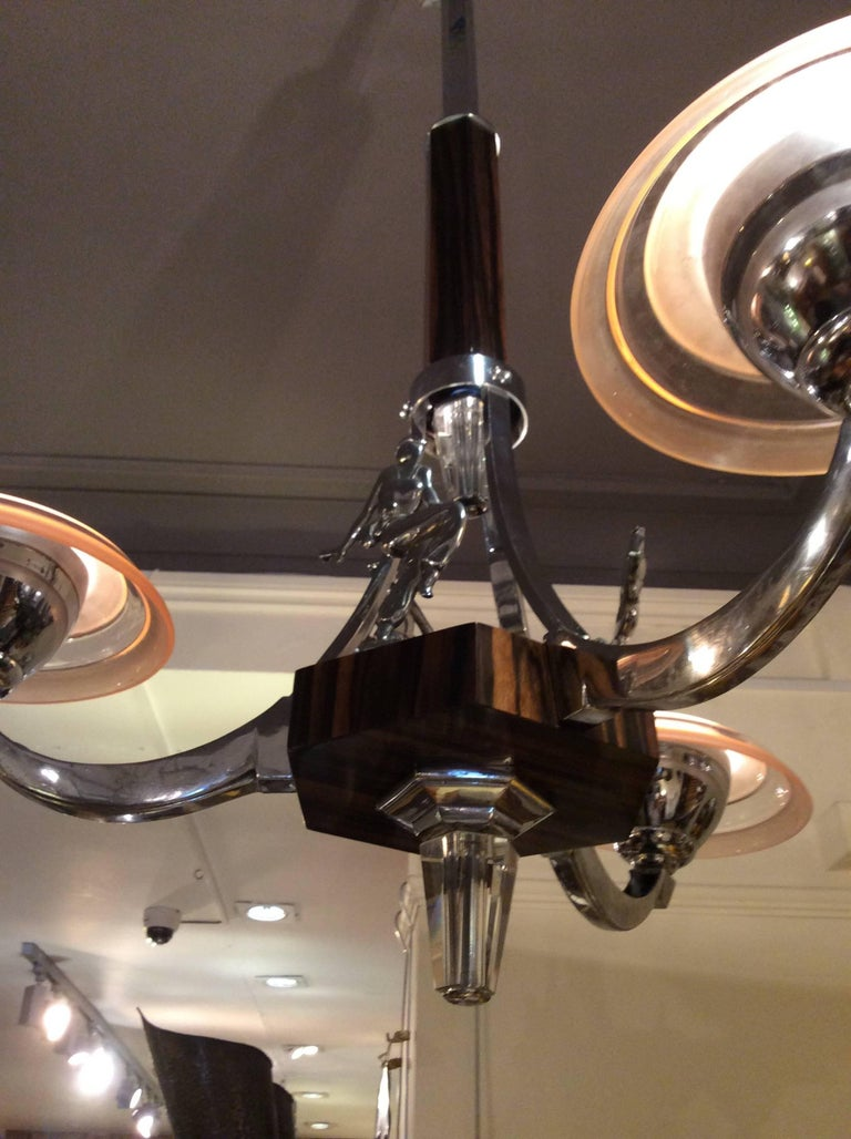 Art Deco Chandelier in the Manner of Adnet In Good Condition For Sale In London, GB