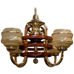 Art Deco Chandelier, Poland, 1970s
