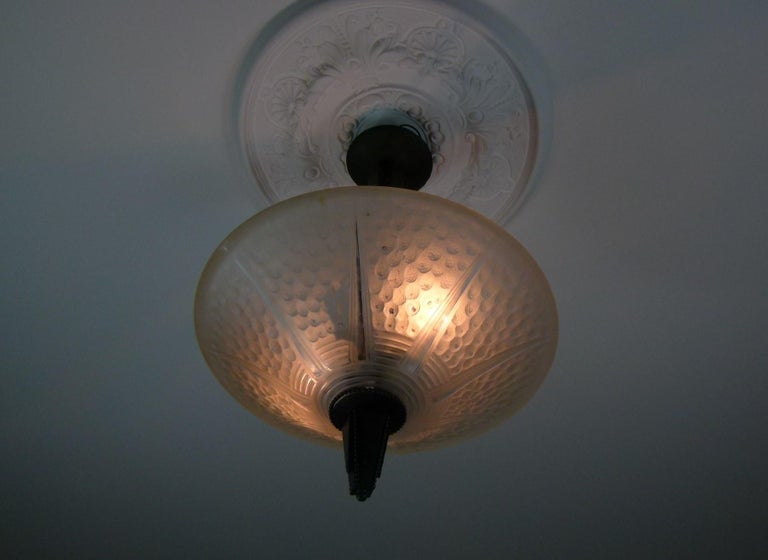 20th Century Art Deco Chandelier Signed Muller Frères For Sale