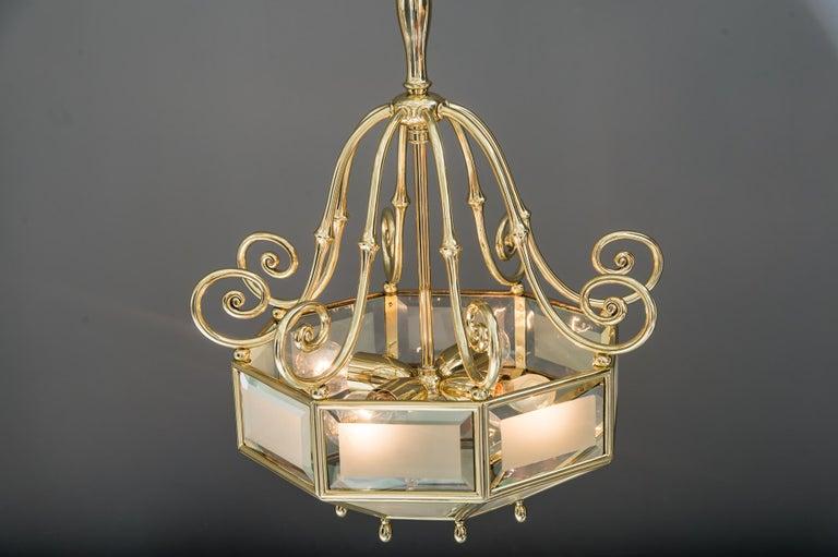 Art Deco chandelier, Vienna, circa 1920s For Sale 3