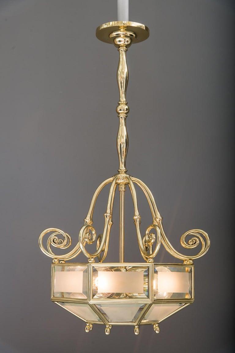 Art Deco chandelier, Vienna, circa 1920s For Sale 4