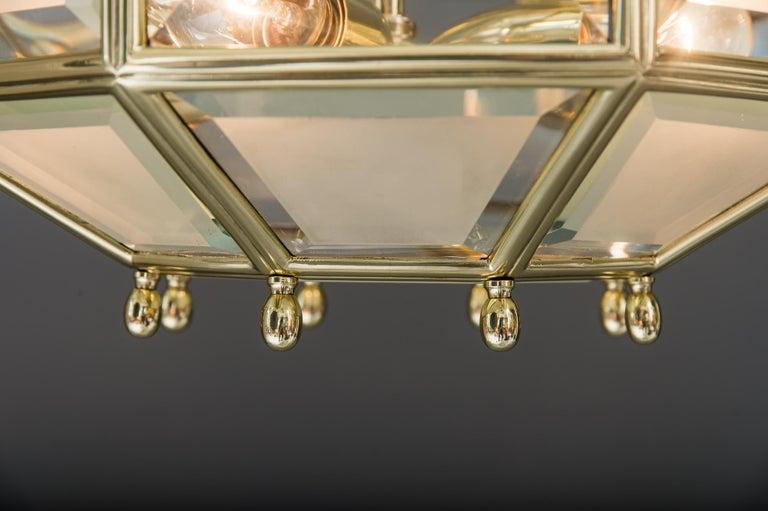 Art Deco chandelier, Vienna, circa 1920s For Sale 10