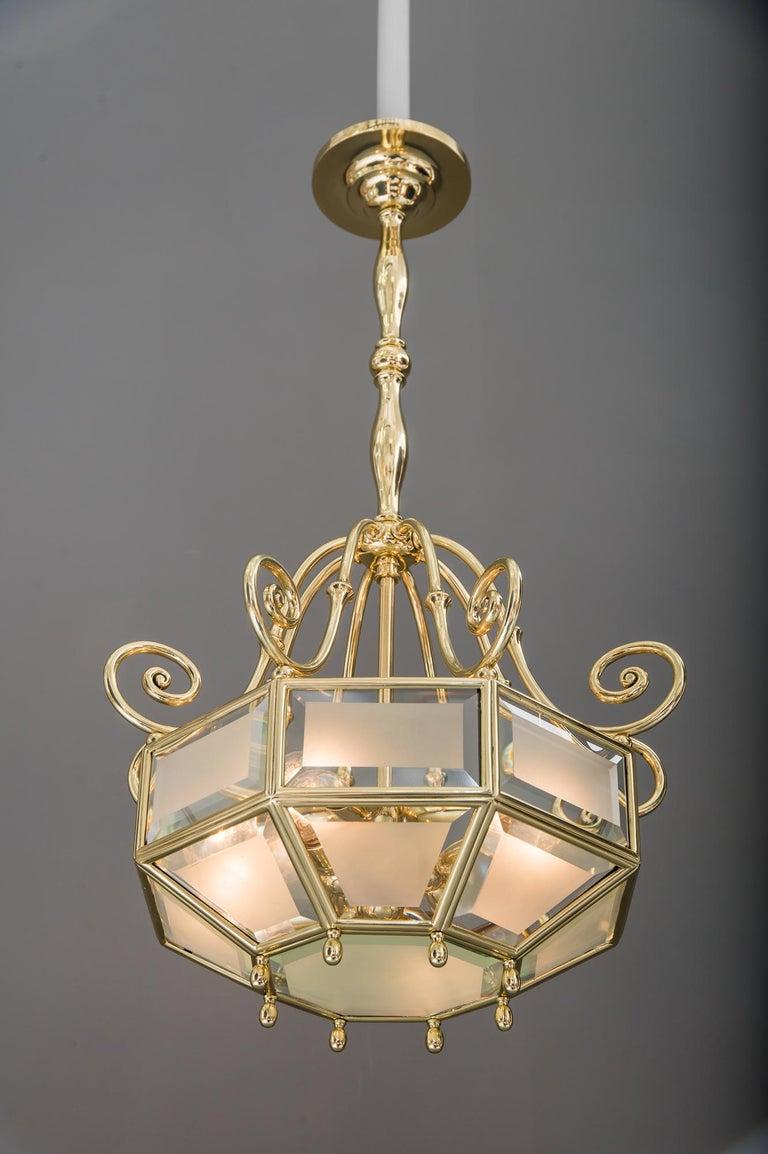 Art Deco chandelier, Vienna, circa 1920s For Sale 12