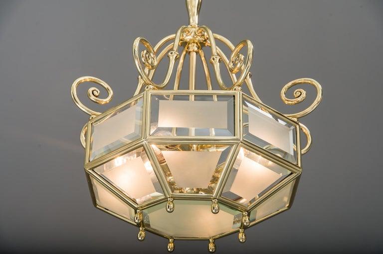 Art Deco chandelier, Vienna, circa 1920s For Sale 13
