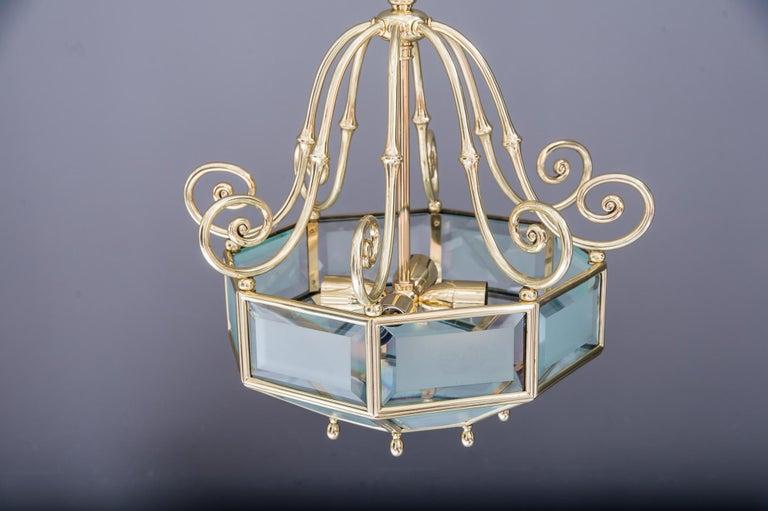 Austrian Art Deco chandelier, Vienna, circa 1920s For Sale