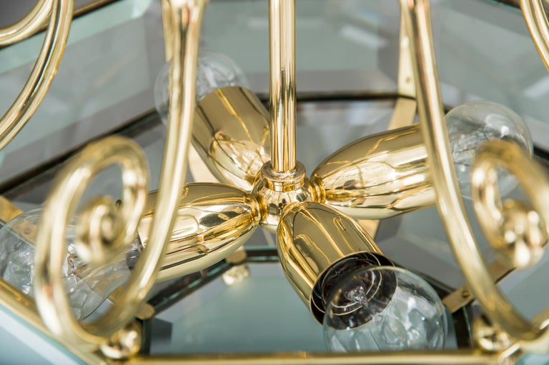 Early 20th Century Art Deco chandelier, Vienna, circa 1920s For Sale