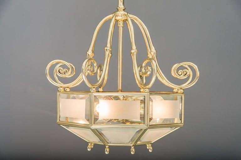 Art Deco chandelier, Vienna, circa 1920s For Sale 2