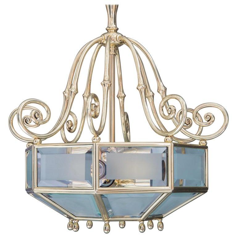 Art Deco chandelier, Vienna, circa 1920s For Sale