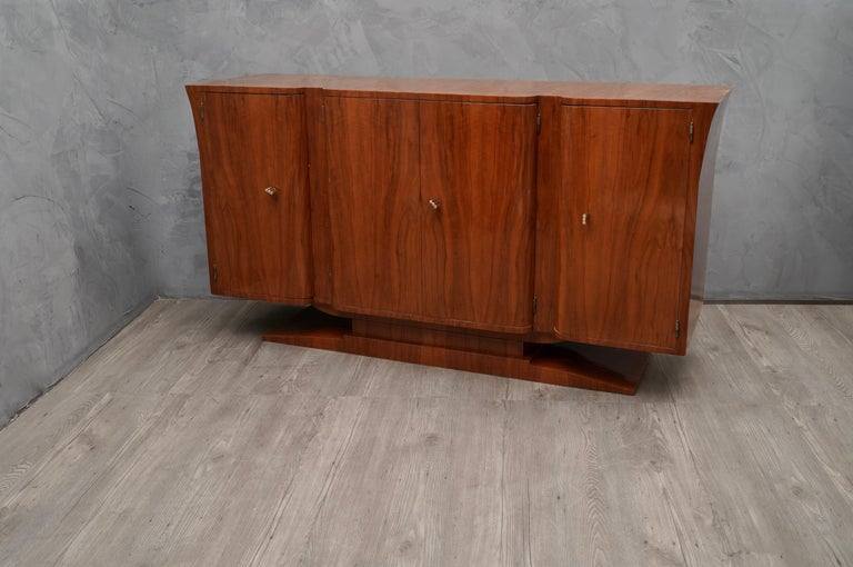 Art Deco Cherrywood Italian Sideboard, 1930 In Excellent Condition For Sale In Rome, IT