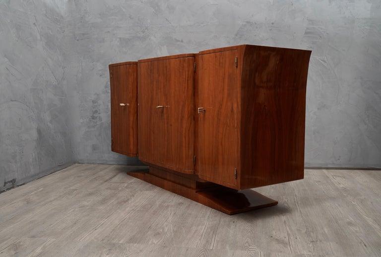 Mid-20th Century Art Deco Cherrywood Italian Sideboard, 1930 For Sale