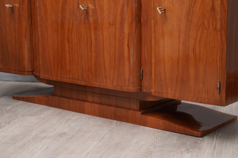 Wood Art Deco Cherrywood Italian Sideboard, 1930 For Sale