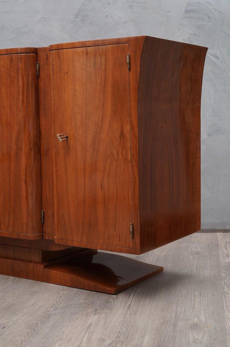 Art Deco Cherrywood Italian Sideboard, 1930 For Sale 3