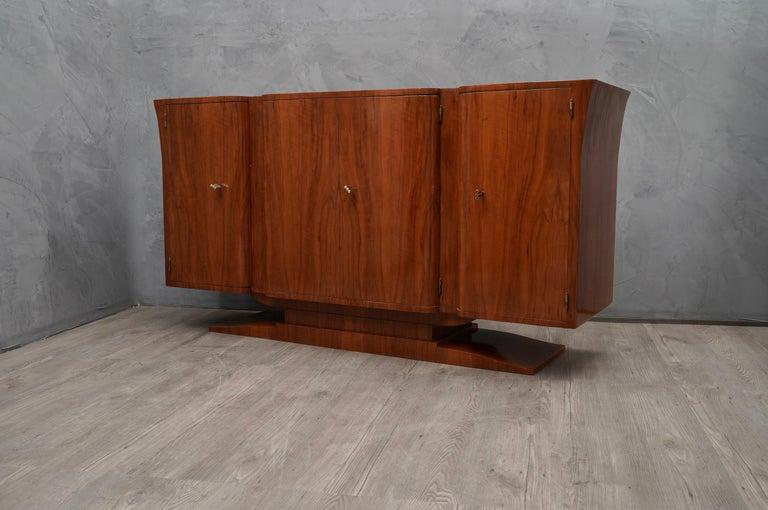 Art Deco Cherrywood Italian Sideboard, 1930 For Sale 4