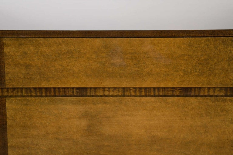 Art Deco Chest in Bookmatched Exotic Elm and Walnut by Eliel Saarinen In Excellent Condition For Sale In New York, NY