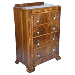 Art Deco Chest of Drawers Burr Walnut and Figured Walnut English, circa 1935