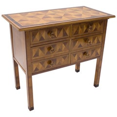 Art Deco Chest of Drawers with 3D Pattern, 1930s