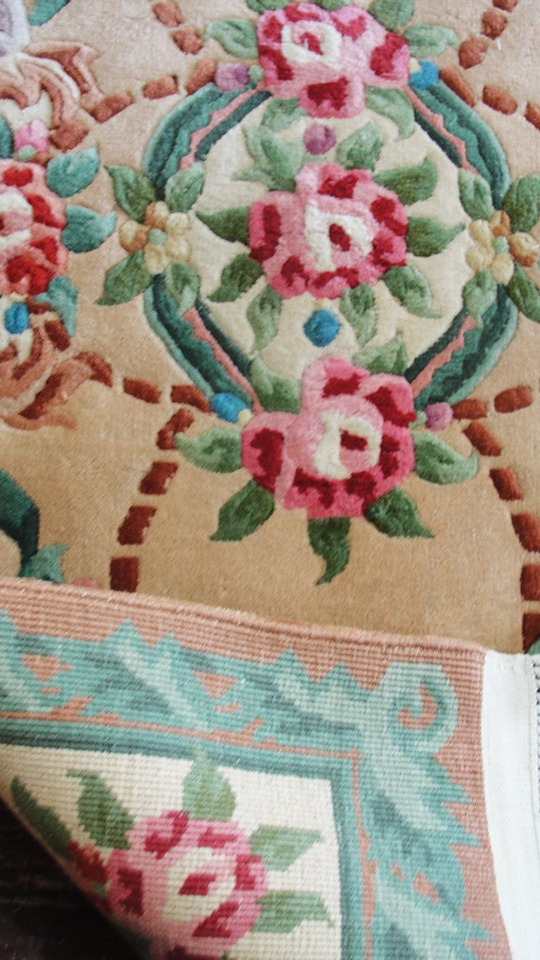 Hand-Knotted Art Deco Chinese Rug For Sale