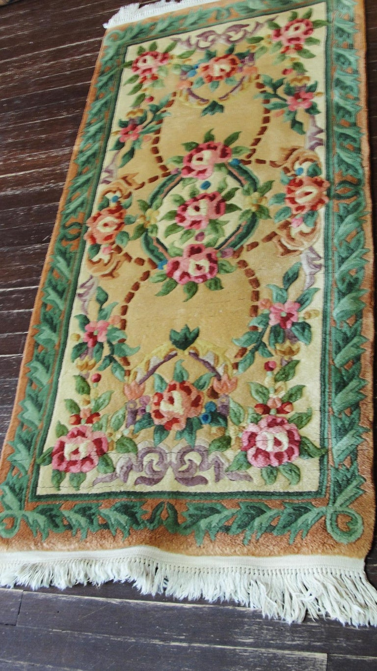 Wool Art Deco Chinese Rug For Sale