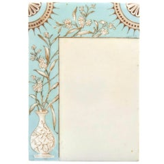 Art Deco Chinoiserie Floral Aqua Porcelain Menu