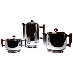 Art Deco Chrome and Bakelite WMF Tea And Coffee Set