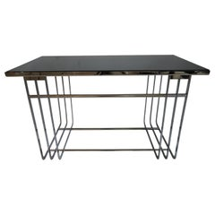 Art Deco Chrome and Mirror Cocktail Table