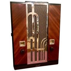 Art Deco Chrome Grill Majestic #161 Restored Tube Radio Bluetooth