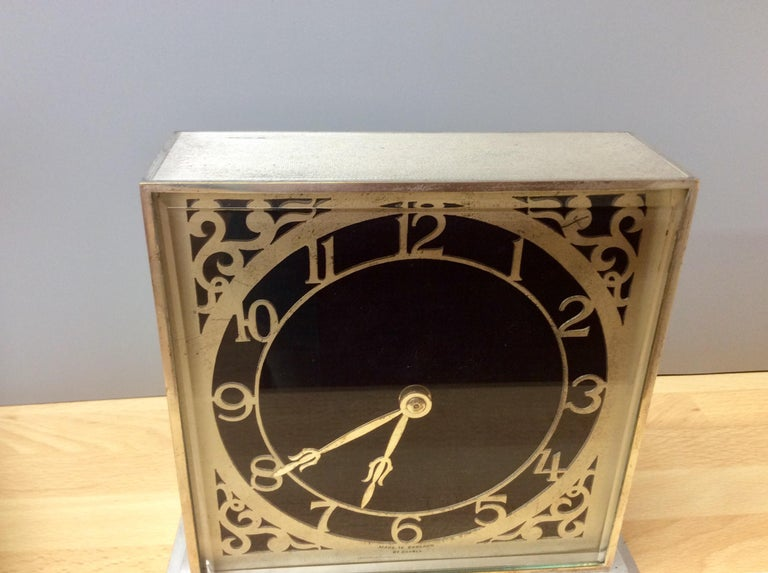 Early 20th Century Art Deco Chrome Mantel Clock by Davall, England For Sale