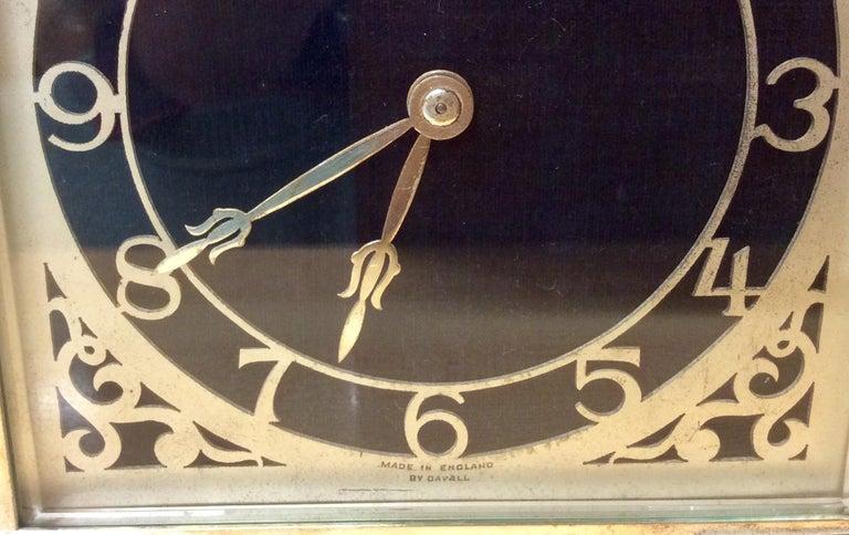 Art Deco Chrome Mantel Clock by Davall, England For Sale 1