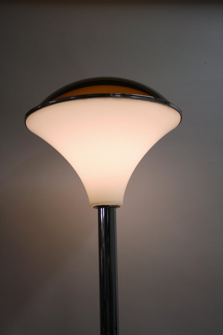 Art Deco Chrome Mushroom Floor Lamp, 1930s 5