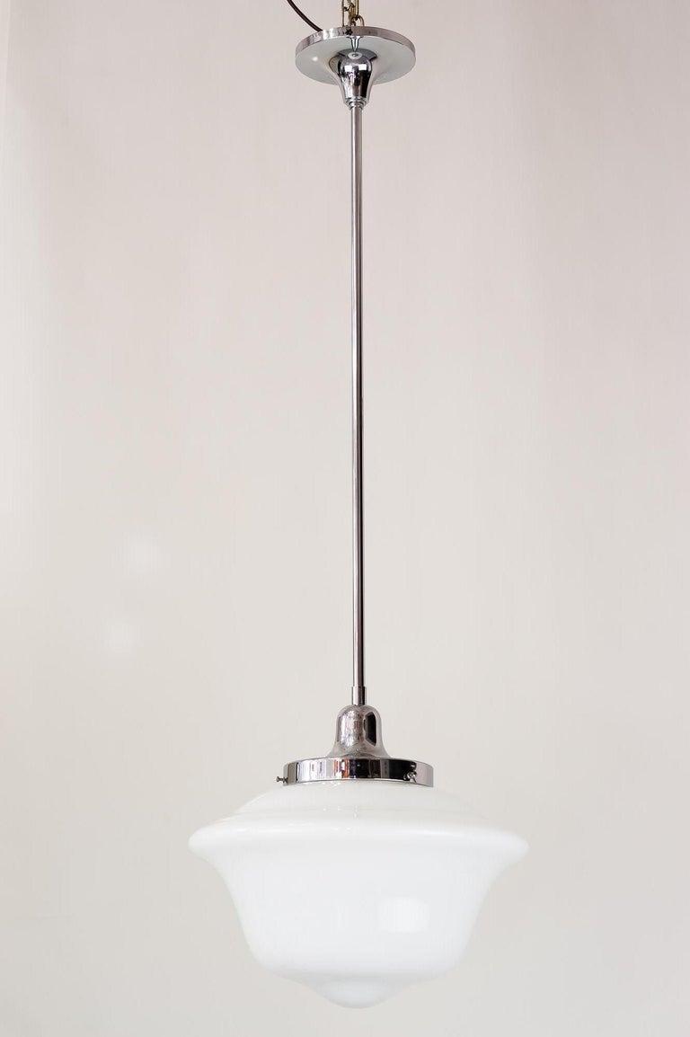 Art Deco chrome pendant, circa 1930s Original condition.