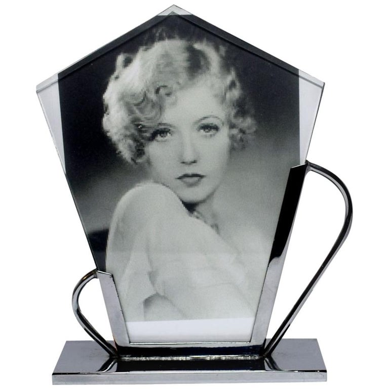 Art Deco Chrome Picture Frame For Sale