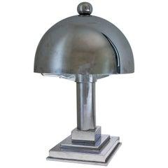 Art Deco Chrome Table Lamp, 1930