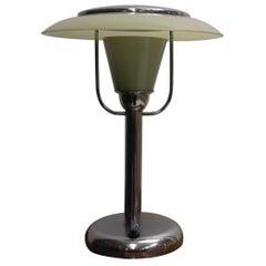 Art Deco Chrome Table Lamp, 1935