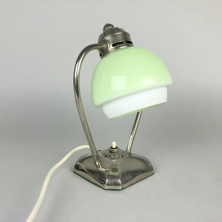 Lovely Art Deco chrome table or bed side lamp.