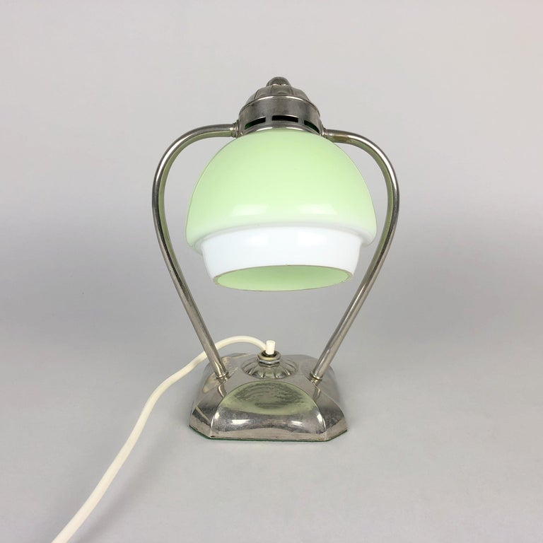 Art Deco Chrome Table Lamp or Lantern, 1930s In Good Condition For Sale In Praha, CZ