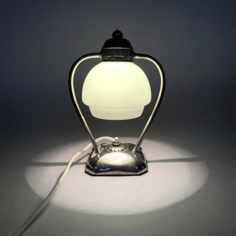 Mid-20th Century Art Deco Chrome Table Lamp or Lantern, 1930s For Sale