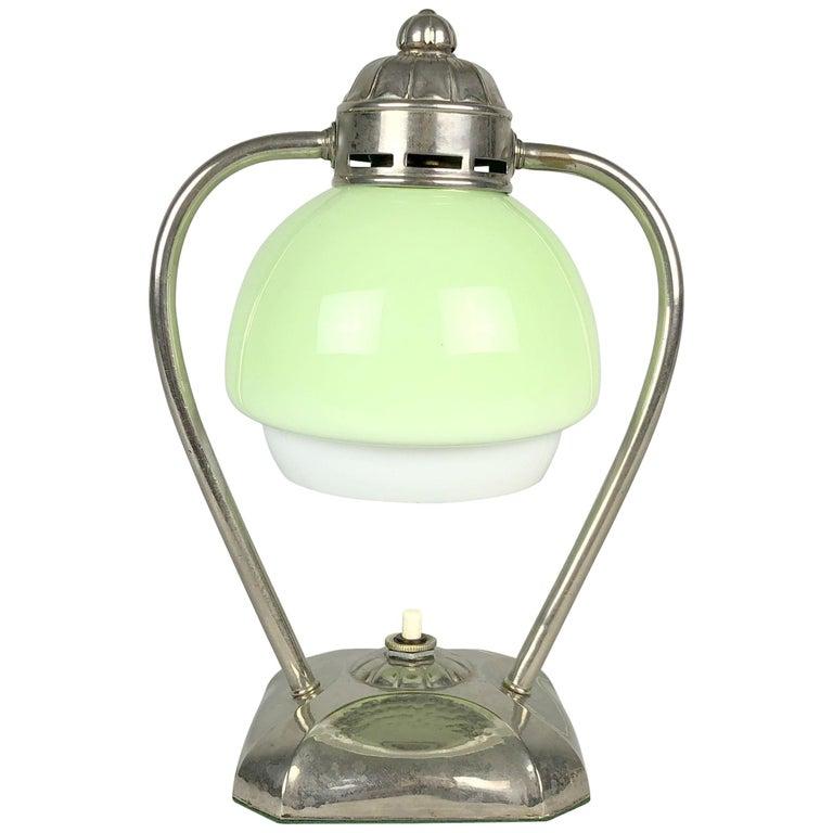 Art Deco Chrome Table Lamp or Lantern, 1930s For Sale