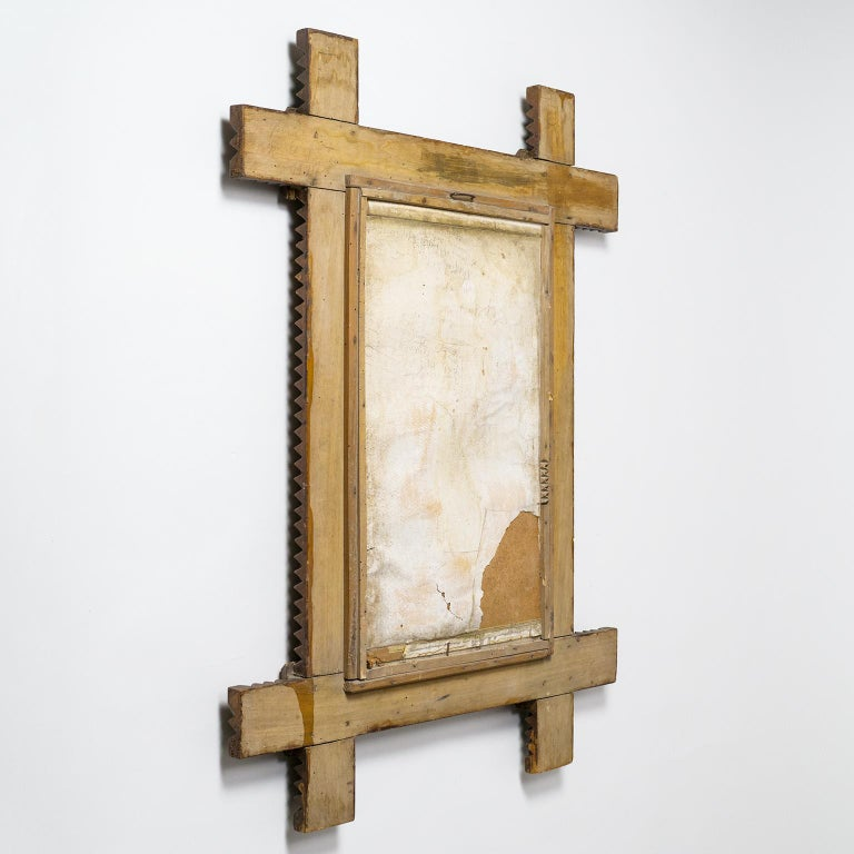 Art Deco Carved Wood Mirror, 1927 For Sale 7