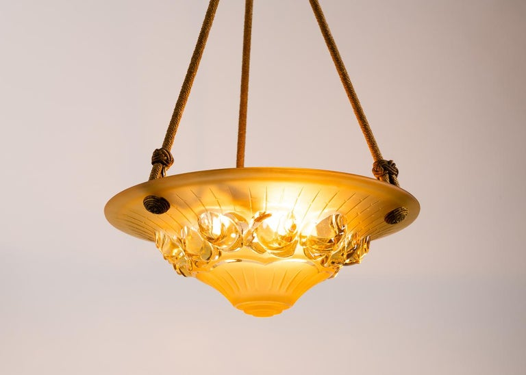 French Art Deco Cieling Fixture, France, circa 1920s For Sale