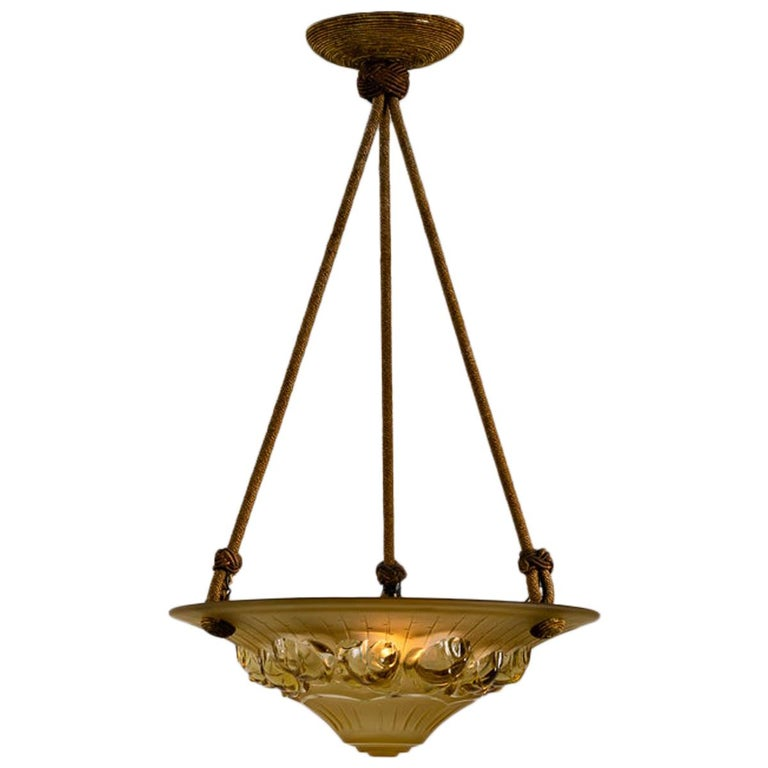 Art Deco Cieling Fixture, France, circa 1920s For Sale
