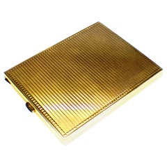 Art Deco Cigarette Case Gold Onyx